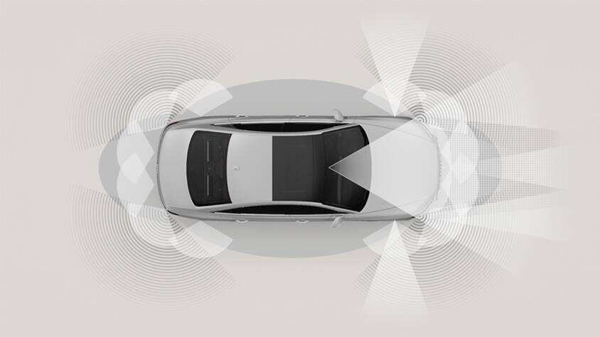 Audi A8 L: демонстрация действия ультразвука – интеллектуальной электронной ассистирующей системы