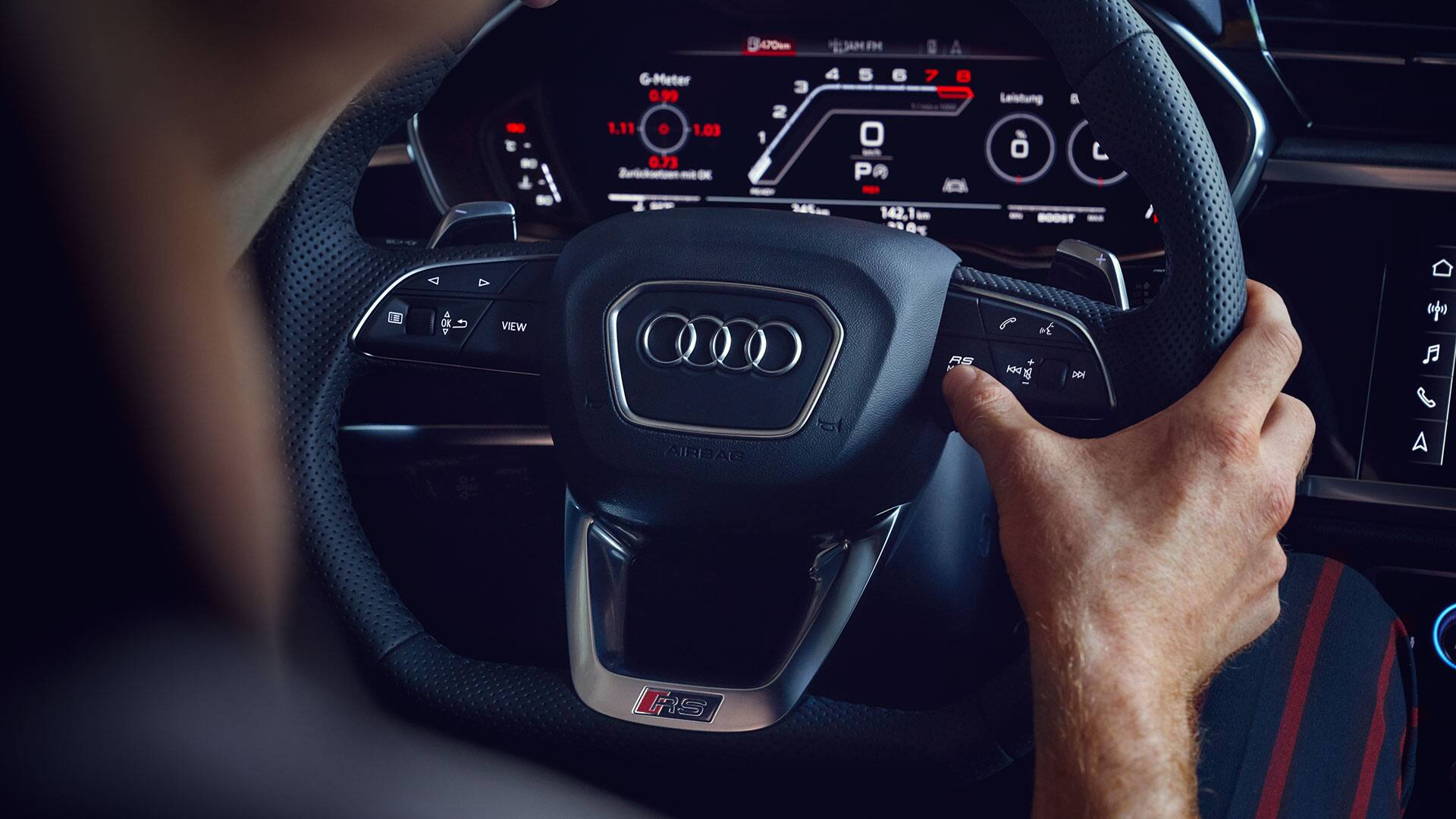 Audi virtual cockpit im Audi RS Q3 Sportback